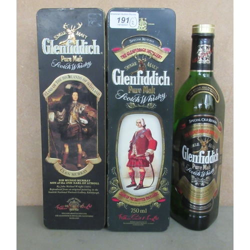 191 - A bottle of Glenfiddich single malt Scotch whisky, no.7 from the House of Stewart, in a presentation...