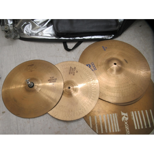224 - A seven piece drum kit (completeness not guaranteed)
