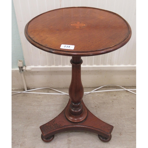 234 - Four items of 19th and 20thC small furniture: to include an early Victorian pedestal wine table 23
