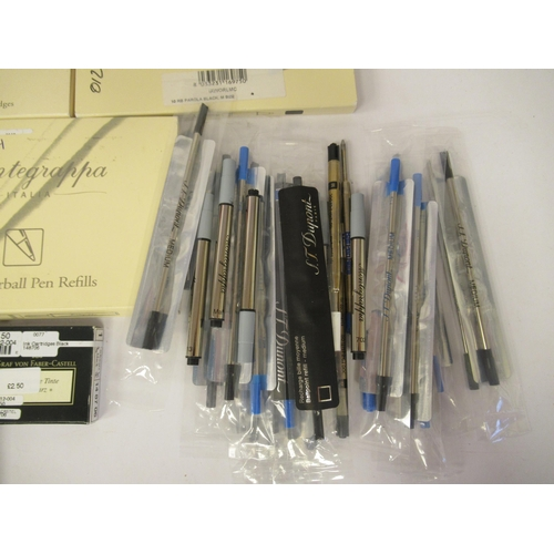 266 - Writing equipment, mainly re-fills for Dupont pens
