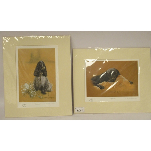 270 - Debbie Gillingham - 'Offwork' Limited Edition 604/850 coloured print bears a pencil sign...