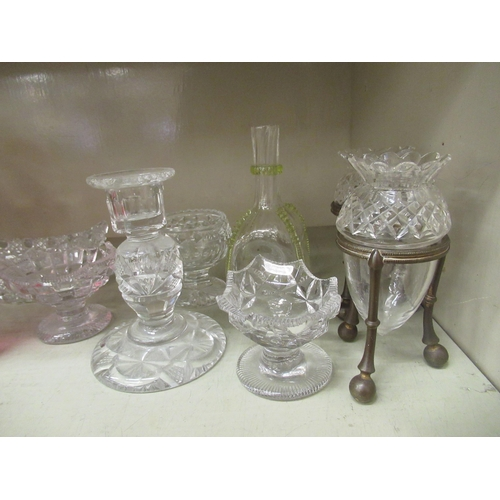 65 - Victorian and later glassware: to include a hobnail cut boat shaped bowl 8