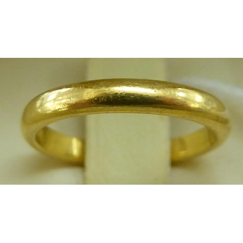 87 - A 22ct gold wedding ring
