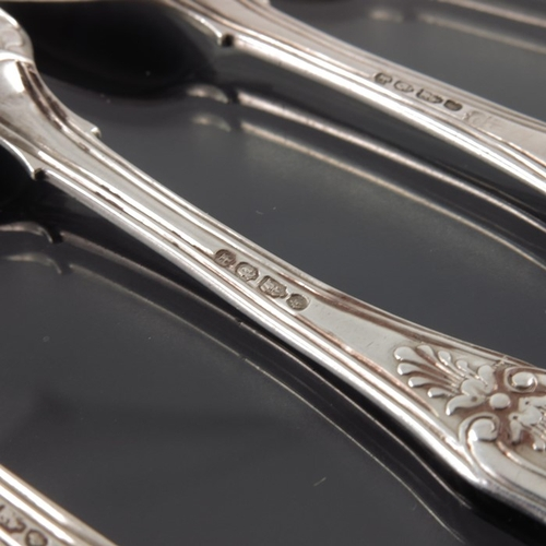 49 - Four William IV Irish silver egg spoons, Christopher Cummins, Dublin 1835, King's pattern, double st...