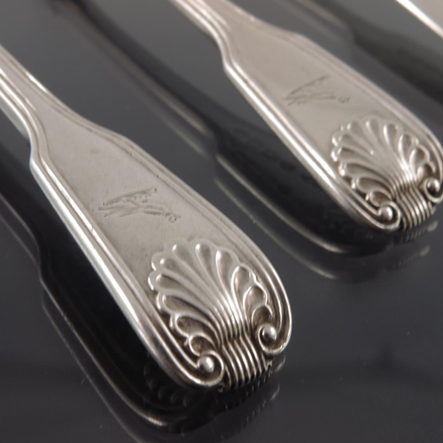 50 - George III and later Irish silver egg and condiment spoons, various Dublin makers and dates, Fiddle ...