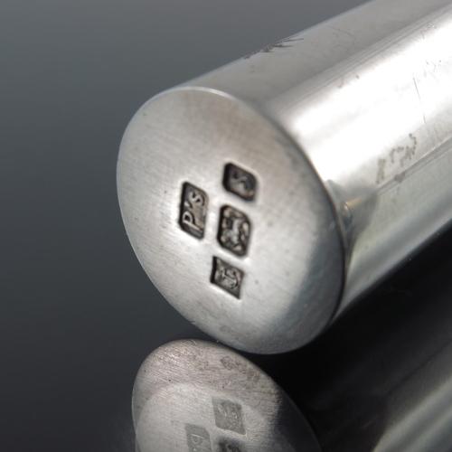 57 - An Elizabeth II silver scent atomiser, Penhaligon's, Birmingham 1992, tubular form with incised star...