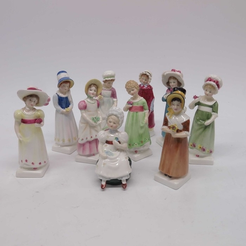 22 - Ten Royal Doulton Kate Greenaway figures. (10)...