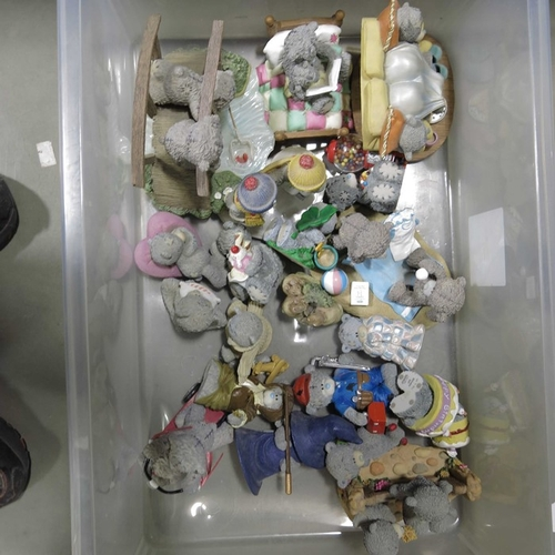 42 - Assorted 'Me to You'  moulded resin teddy bear figures.  (15+)...