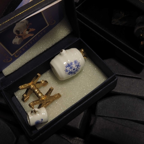 6 - Christine Von Gampe, Mayfair Edition, a collection of miniatures, each boxed, with faux book present...