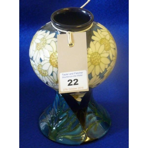 22 - A modern Limited Edition (40/50) Moorcroft porcelain Vase of baluster form with large spreading foot...