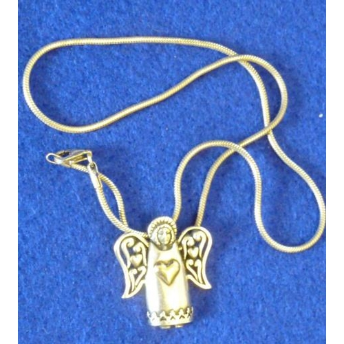 245 - A 925 silver Chain and a 925 silver and 14 carat Angel Pendant...