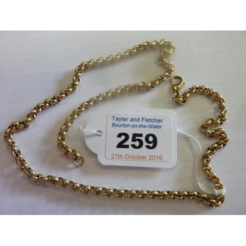 259 - A heavy 9 carat yellow gold Neck Chain, 46cm, approx. 23g...