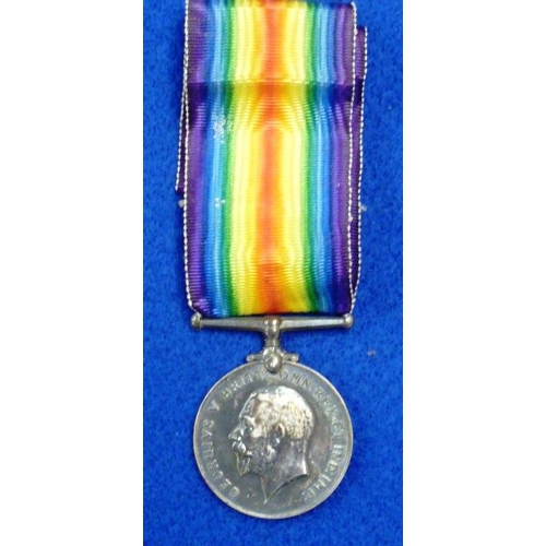 377 - A First World War Victory Medal to Private J Willmore (Norfolk Regiment)...