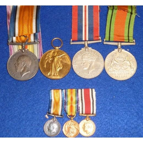 384 - Two First World War Medals awarded to Captain E Jefferson together with two Second World War example...