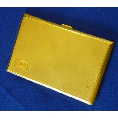 386 - A heavy hallmarked 9 carat yellow gold Cigarette Case, 13cm, approx. 181g...