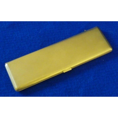 387 - A heavy 9 carat gold engine turned Cigarette Case, 16cm, approx. 137g...