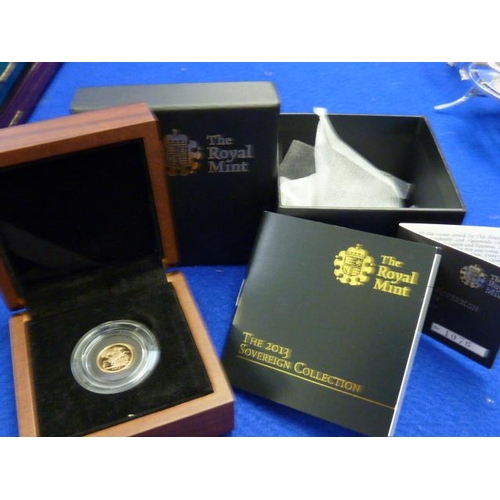 399 - A boxed Limited Edition presentation 2013 Quarter Sovereign...