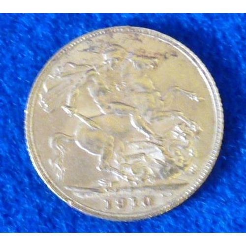 400 - An Edward VII Full Sovereign dated 1910...