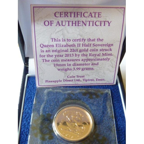 429 - A boxed 2013 Half Sovereign...