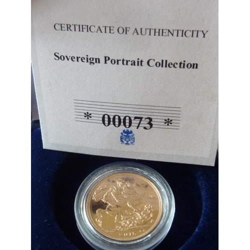 430 - A boxed Queen Elizabeth II 2015 gold Sovereign, with paperwork...