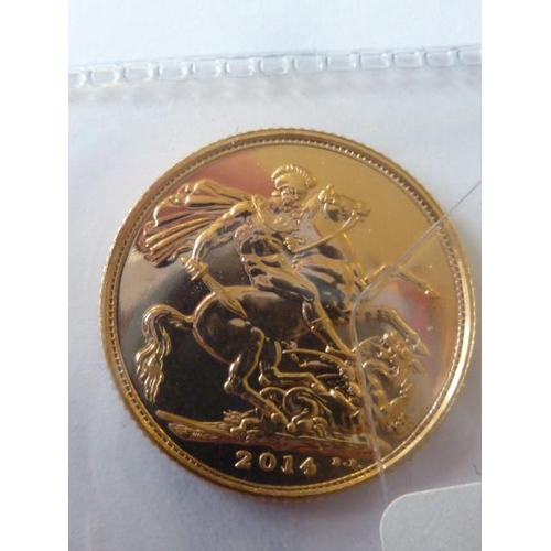 432 - A Queen Elizabeth II gold Sovereign dated 2014...