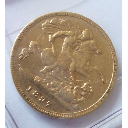 441 - A 19th Century Victorian Half Sovereign dated 1897...
