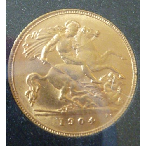 443 - An Edward VII Half Sovereign dated 1904...