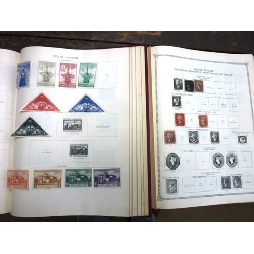450 - 'The Ideal Postage Stamp Album'' (three Volumes) containing a wide variety of mostly late 19th and e...