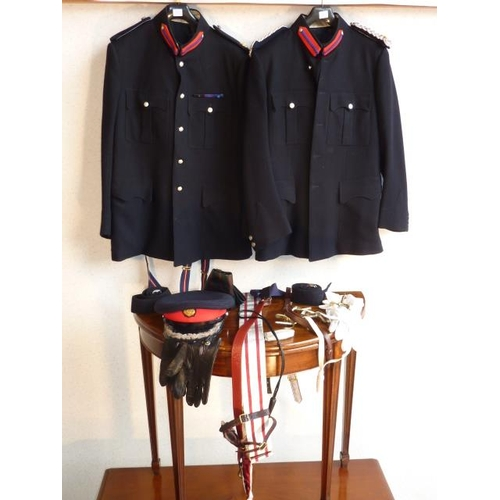537 - A complete contemporary Deputy Lord Lieutenant's Uniform consisting of both No 1 and Mess Dress tuni...
