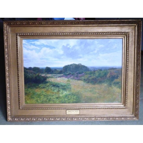 548 - A large gilt framed 19th Century Oil on Canvas Study ''Hampstead Heath'' by Walter S (Stuart) Lloyd ...