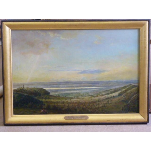 552 - * Michael Constable, a gilt framed Oil on Canvas ''Tyndale's Monument and Queen's View'', signed low...