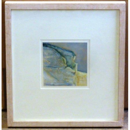 567 - * Lynne Wilkes a box-framed Acrylic ''Ballard Cliff, Swanage'', original Royal Academy Summer Exhibi...