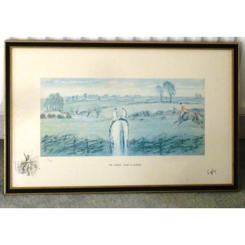 580 - * A Hogarth framed and glazed Limited Edition (210/500) colour Snaffles Print ''The Finest View in E...