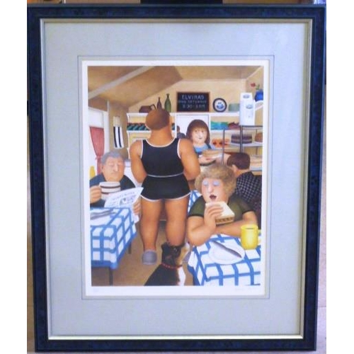 584 - * A framed and glazed Limited Edition (61/850) colour Beryl Cook Print published by Alexander Galler...
