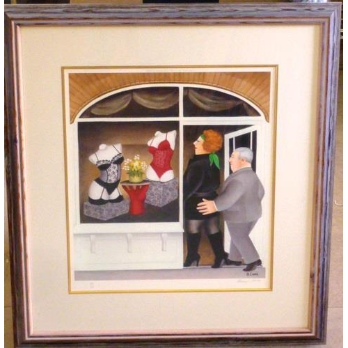 587 - * A framed and glazed colour Beryl Cook Print published by Alexander Gallery, Bristol, Limited Editi...