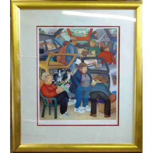 588 - * A gilt framed colour Beryl Crook Print published by Alexander Gallery, Bristol, Limited Edition 33...