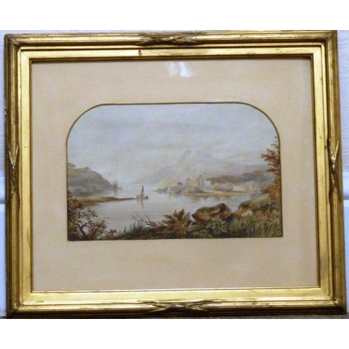 596 - A gilt framed and glazed mid 19th Century Watercolour Study ''Ruins of Tintern Abbey, Near Chepstow,...