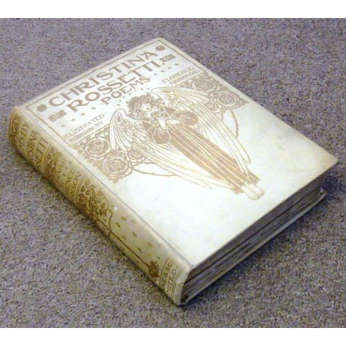 637 - Christina Rossetti  - Poems illustrated by Florence Hamilton (1910? Blackie and Son Limited) minor f...