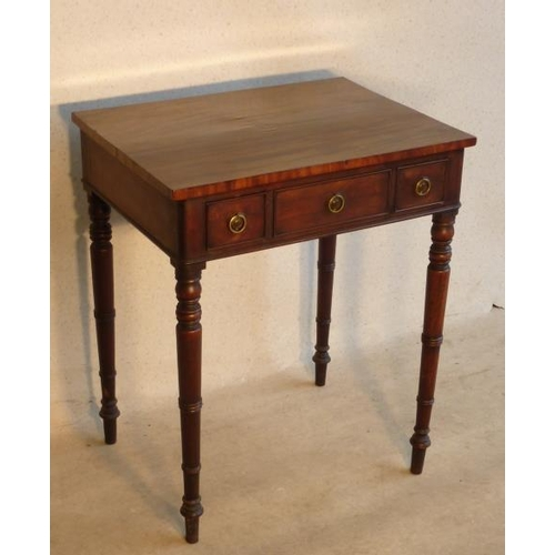 708 - An early 19th Century mahogany Side Table of pleasing proportions, the slightly overhanging top abov...