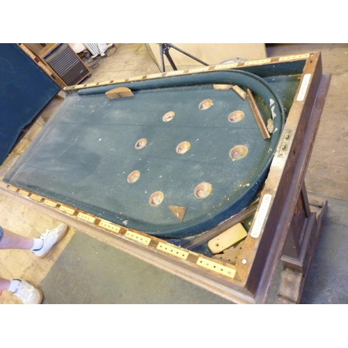 712 - (For Restoration), an early 19th Century pollard elm fold over top Bagatelle Board/Library Table, th...