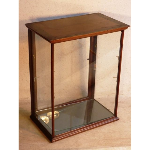 716 - An early 20th Century mahogany and glazed Display Case with glass shelves, 62cm (widest)...