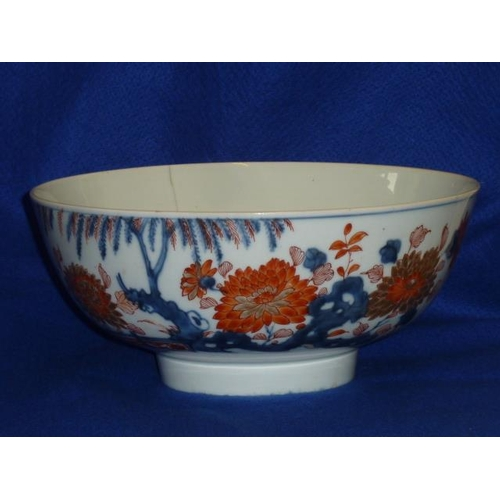 95 - An 18th Century Chinese porcelain Bowl decorated and finely gilded in the Imari palette with chrysan...