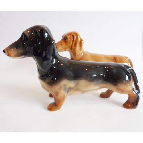 27 - Two Beswick Daschund dogs...
