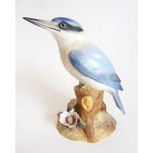 51 - A large Royal Crown Derby figure, Kingfisher...