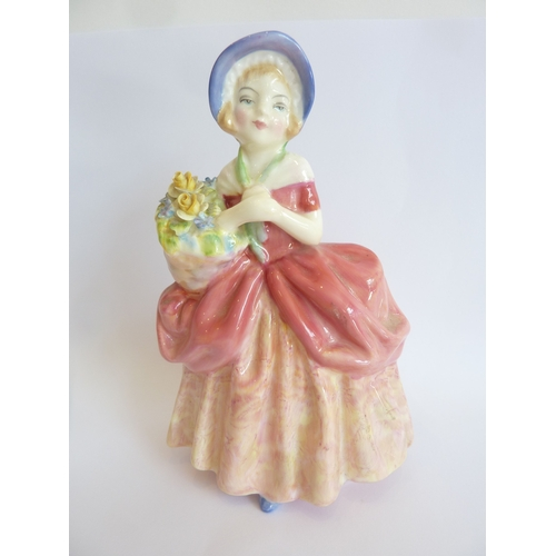 10 - An early 20th century hand-decorated Royal Doulton figure, 'Cissie', HN1809, 1937...