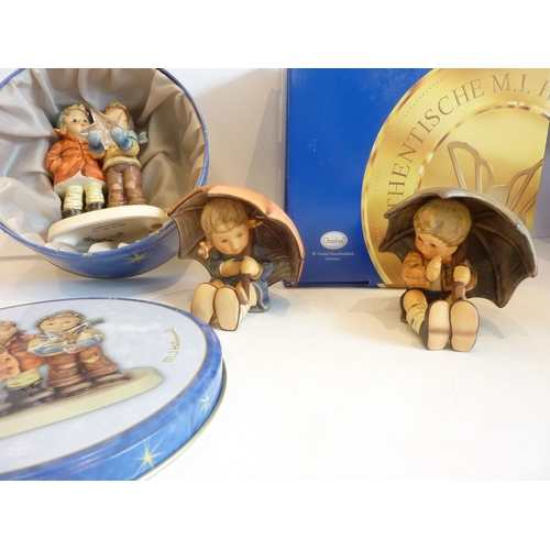 15 - A selection of eight boxed Hummel miniature plates (together with paperwork) and original M J Hummel...