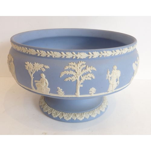36 - A Wedgwood Jasperware blue and white fruit bowl...
