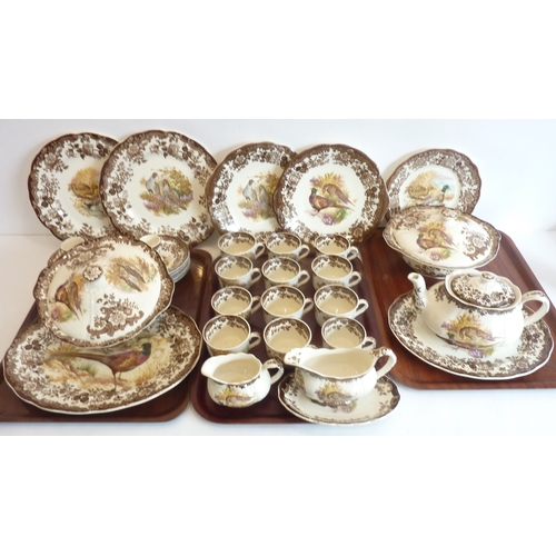 40 - A 39-piece 'Palissy' Royal Worcester dinner, tea and coffee service to include platters, teapot, cup...