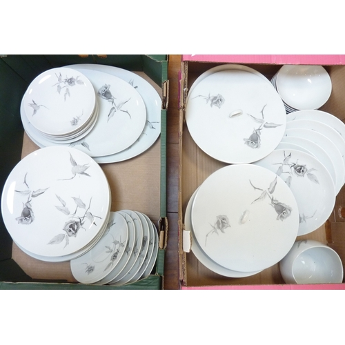 33 - A good 1960s / early 1970s dinner service by Raymond Loewy comprising varying sized plates, bowls, t...