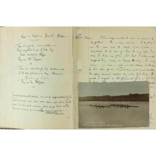 19 - Journal of a Young Drogheda Lawyer & Member of The Rowing Club  Co. Louth: Manuscript: A Notebook, 2...
